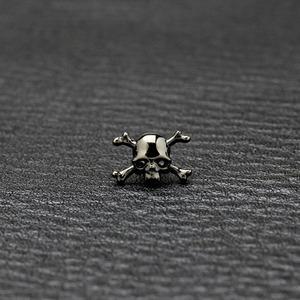 ドクロピアス BLACK&BLACK DIAMOND【STONE MODEL】