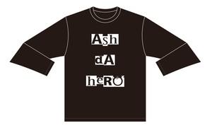 タイポグラフィ ロングTシャツ 【Black】《ASHデザイン》