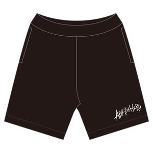 Sweat Half Pants -BLACK-