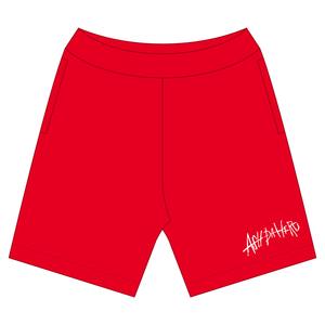Sweat Half Pants -RED-